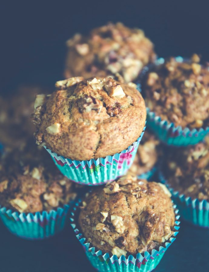 Banana Muffins with Almond and Orange