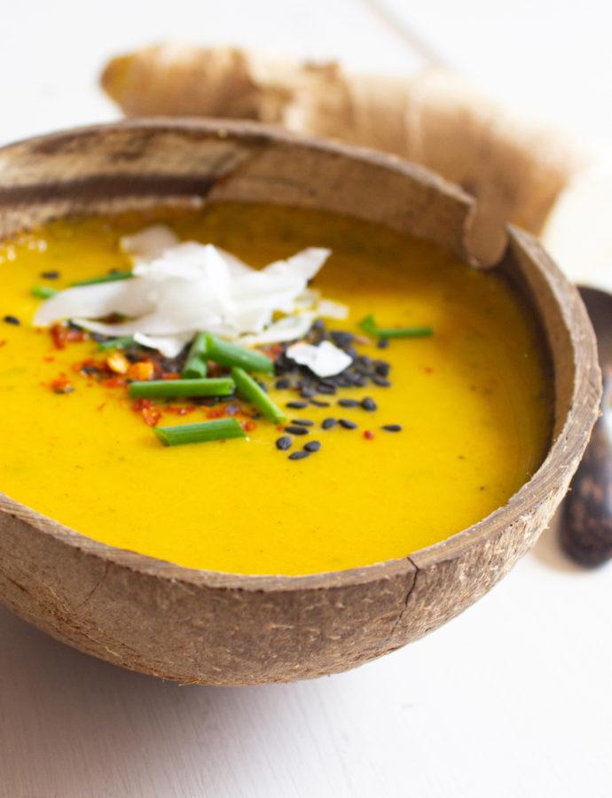 Crema de Calabaza y Mango